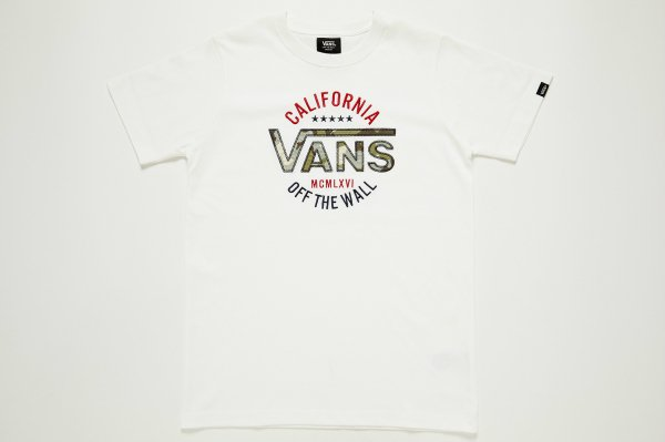 VANS Camouflage Slim-fit S/S T-Shirt(Safari8月号掲載商品)