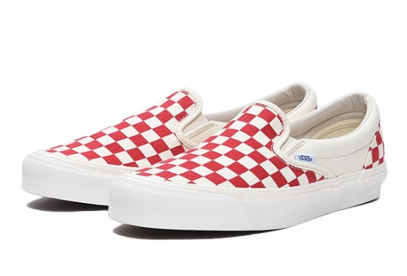 OG CLASSIC SLIP-ON LX  (CHECK)WHT/RE