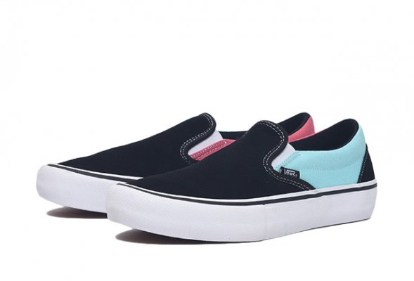 SLIP-ON PRO (ASYMMETRY) BLACK/BLUE/R