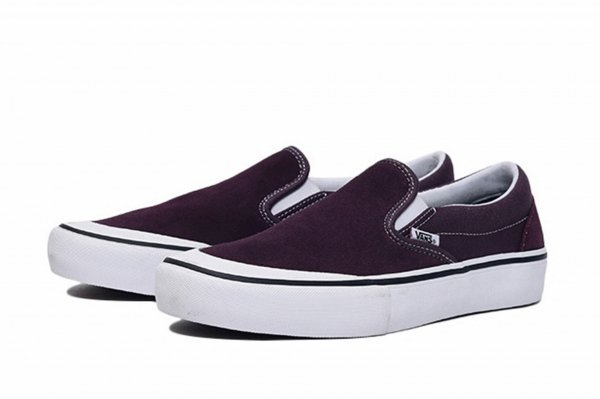 SLIP-ON PRO RAISIN/WHITE