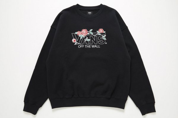 Rose Flying-V Emb. Crew Sweat