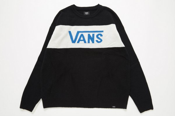 <img class='new_mark_img1' src='//img.shop-pro.jp/img/new/icons41.gif' style='border:none;display:inline;margin:0px;padding:0px;width:auto;' />VANS Checker Sleeve Crew Knit(Safari12月号掲載商品)