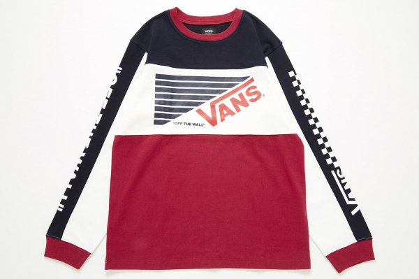 VANS Sports Color Block L/S T-Shirt(Safari11月号掲載商品)
