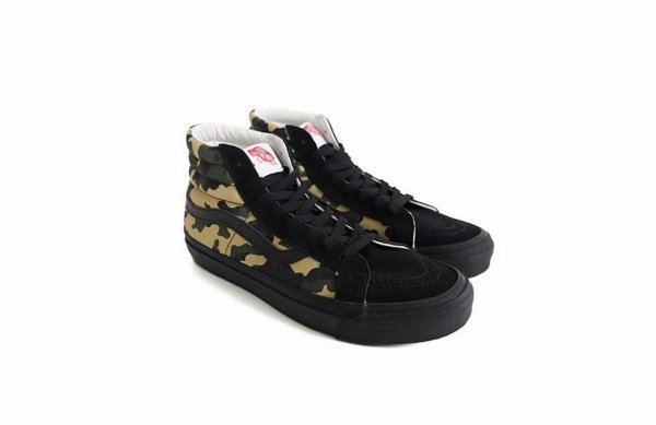 <img class='new_mark_img1' src='//img.shop-pro.jp/img/new/icons41.gif' style='border:none;display:inline;margin:0px;padding:0px;width:auto;' />OG SK8-HI LX (SUEDE/CANVAS) CAMO/BLA