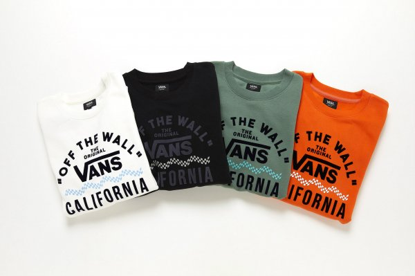 VansWAVE FRYING LOGO CREW(Safari1月号掲載商品)