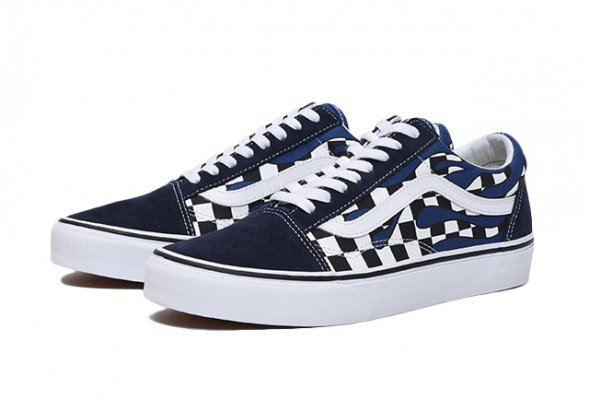 UA OLD SKOOL (CHECKER FLAME) NAVY/TR