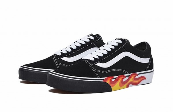 UA OLD SKOOL (FLAME CUT OUT) BLACK/T