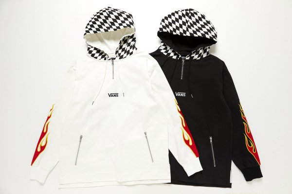 Checker Hooded Pull Over(FLAME PACK)