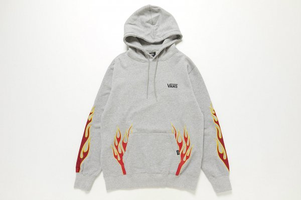Flame Emb. Pull Over Hoodie 5902800002