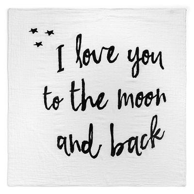 モダンバーラップ スワドル おくるみ i love you to the moon and back