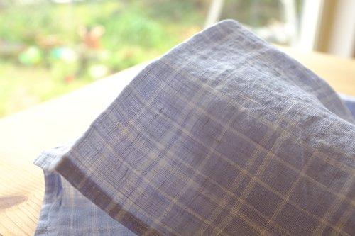 ハンカチ/麻/リーノ・エ・リーナ/リトアニアリネン/lino e lina/ロリアンチェック【画像2】