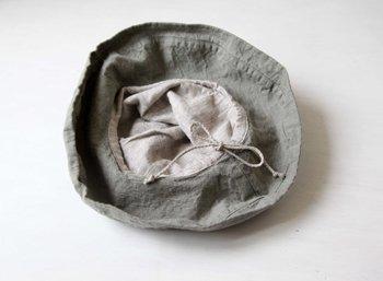 帽子 リネン(麻) リトアニアリネン マノン エルムグリーン