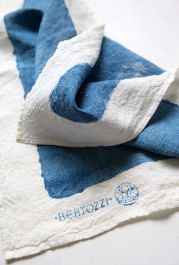 キッチンクロス/麻/ベルトッツィ/リネン/イタリア/BERTOZZI 【ピエノ】ブルー【画像2】