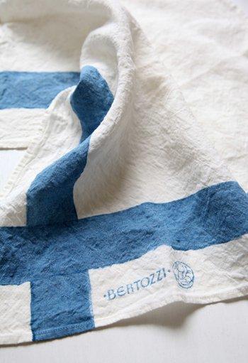 キッチンクロス/麻/ベルトッツィ/リネン/イタリア/BERTOZZI 【インクローチョ】 正方形 約46cmx約46cm【画像2】