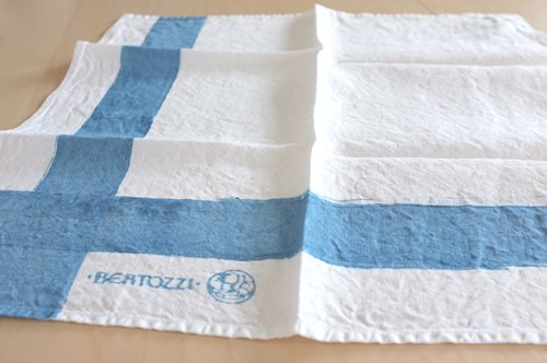 ブライト・ホワイト系 キッチンクロス/麻/ベルトッツィ/リネン/イタリア/BERTOZZI 【インクローチョ】 正方形 約46cmx約46cm