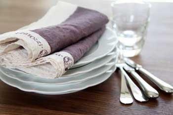 キッチンクロス リネン(麻) イタリア製 ベルトッツイ ミルト 正方形 約46cmx約46cm
