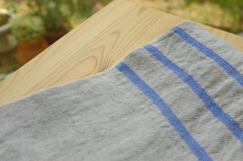 キッチンクロス リネン(麻) フィンランド ラプアンカンクリ USVA ブルー