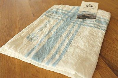 キッチンクロス リネン(麻) イタリア製 ベルトッツイ デカレ 正方形 約46cmx約46cm