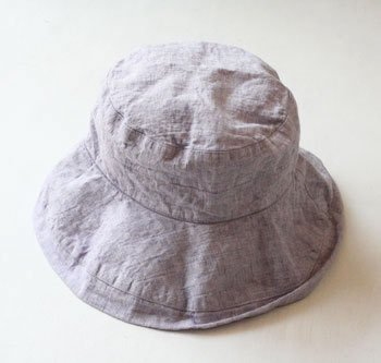 帽子 リネン(麻) リトアニアリネン マノン リラ