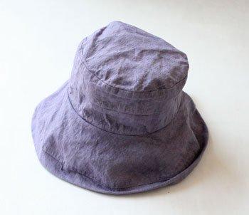 帽子 帽子/麻/リーノ・エ・リーナ/リトアニアリネン/linoelina【マノン】ラヴァンド