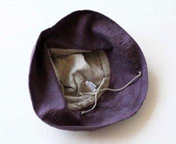 帽子 リネン(麻) リトアニアリネン マノン ヴィンテージグレープ