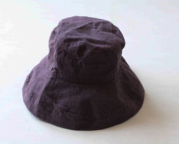 帽子 帽子/麻/リーノ・エ・リーナ/リトアニアリネン/linoelina【マノン】ヴィンテージグレープ
