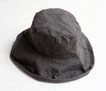 帽子 リネン(麻) リトアニアリネン マノン ポワブル