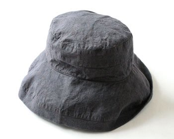 帽子 帽子/麻/リーノ・エ・リーナ/リトアニアリネン/linoelina【マノン】チャコールグレイ