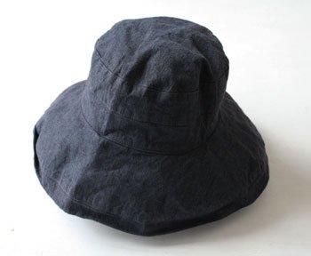 帽子 リネン(麻) リトアニアリネン マノン ネイビー