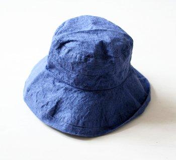 帽子 リネン(麻) リトアニアリネン マノン プルシアンブルー