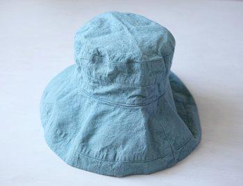 帽子 リネン(麻) リトアニアリネン マノン アクアブルー