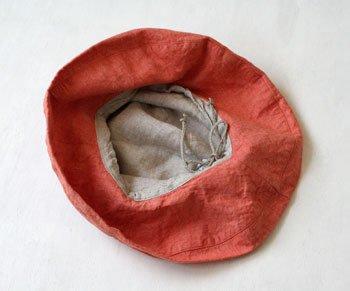 帽子 リネン(麻) リトアニアリネン マノン オランジュ