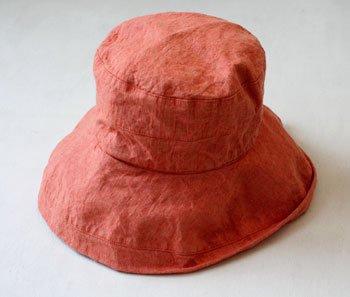 帽子 帽子/麻/リーノ・エ・リーナ/リトアニアリネン/linoelina【マノン】オランジュ