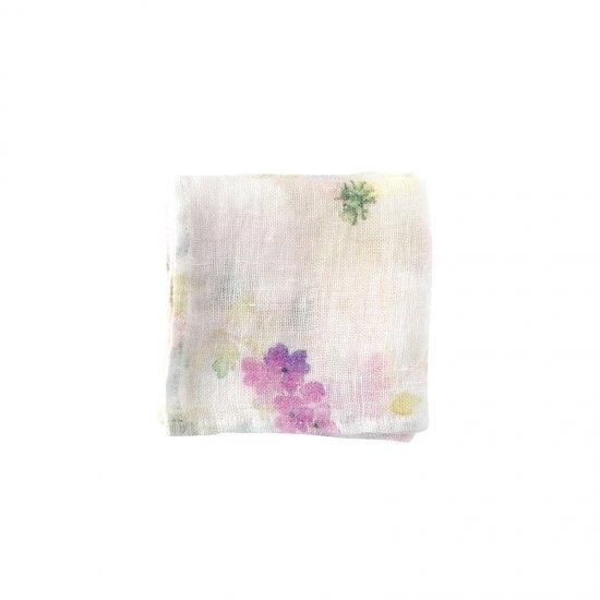 ブライト・ホワイト系 ハンカチ/麻/リーノ・エ・リーナ/リトアニアリネン/lino e lina アネモネ