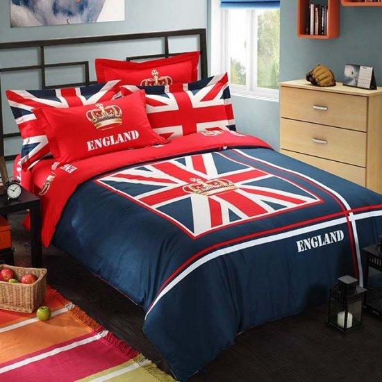 イギリス国旗模様プリント 寝具セット 布団カバー シート 枕カバー ベッドカバー 米文字模様プリント エレガンス 精緻 お洒落 送料無料0…