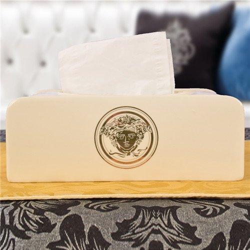 ヴェルサーチ ティッシュケース セラミック 陶器製 Versace ティッシュボックス カー用品 男女兼用 車内飾りもの ブランド 高級感 エレガンス 精緻 送料…
