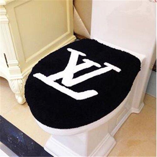 LOUIS VUITTON ルイヴィトン 洗浄暖房型 フタカバー/便座カバー マット 2点セット 絨毯 ビッグサイズ 人気ブランド インテリア ノベルティ 送料…