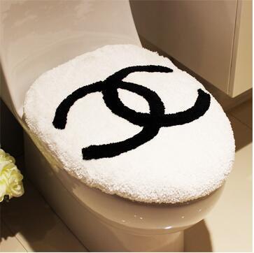 CHANEL シャネル 洗浄暖房型 フタカバー/便座カバー マット 2点セット 絨毯 ビッグサイズ 人気ブランド インテリア ノベルティ 送料…