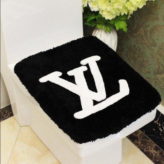 LOUIS VUITTON ルイヴィトン 洗浄暖房型 フタカバー/便座カバー  2点セット マット  絨毯 滑り止め 長方形 人気ブランド インテリア ノベルティ 送料…