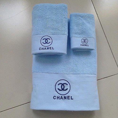 CHANEL★シャネル 高級綿 超柔軟 カップル タオル バスタオル ハンカチの3点セット フェイス/ホテル/デイリータオル 送料無料…