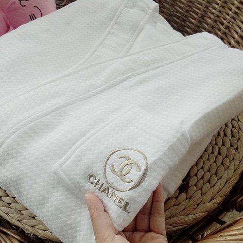 ★CHANEL☆シャネル★高級 二重刺繍 綿 ネグリジェ バスローブ パジャマ コットン 浴衣柔らかい 送料無料…