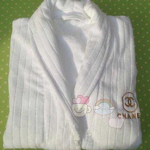 ★CHANEL☆シャネル★高級 二重刺繍 綿 ネグリジェ バスローブ パジャマ コットン 浴衣柔らかい 送料無料
