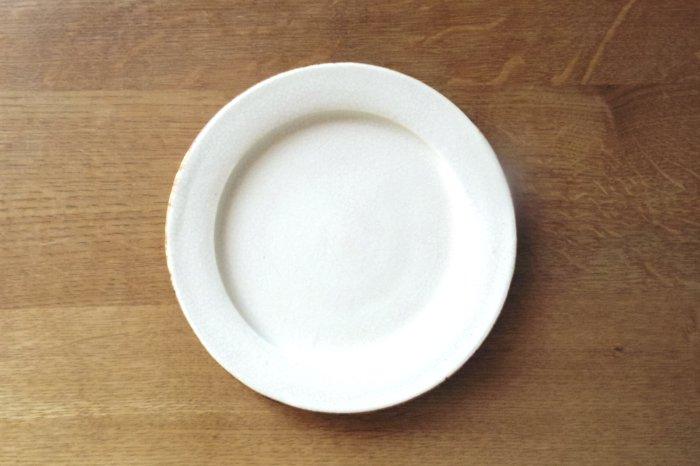 リム皿6寸/ひび 町田裕也