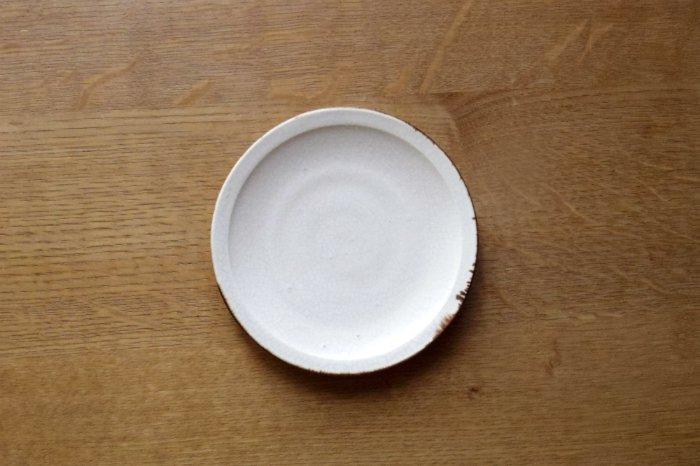 リム皿4寸/ひび 町田裕也