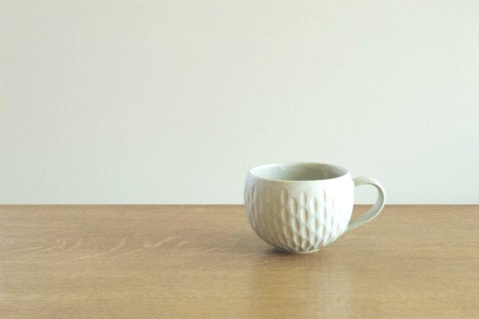 マグカップ/しのぎペパーミント  ヤマシタマユ美