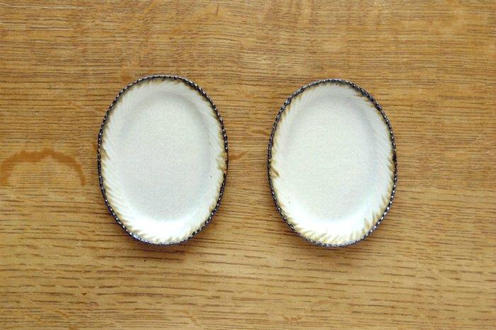 オーバル豆皿/皮鯨 ツキゾエハル
