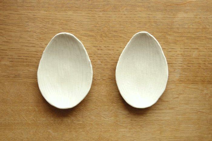 リーフ皿(小)/灰マット ツキゾエハル