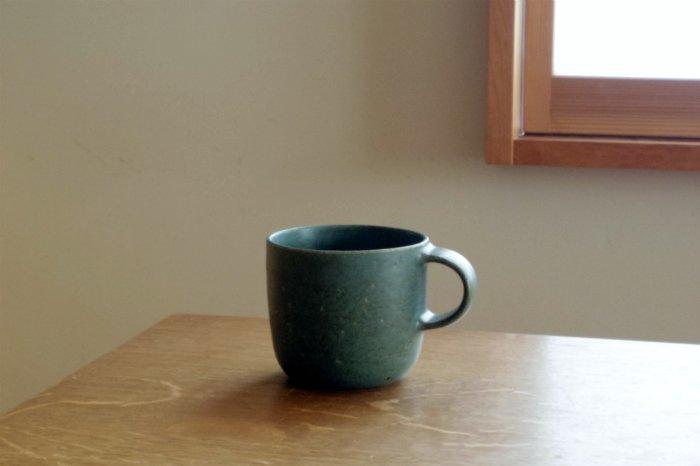 マグカップ(小)/緑 寺嶋綾子