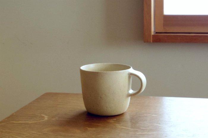 マグカップ(小)/白点々 寺嶋綾子