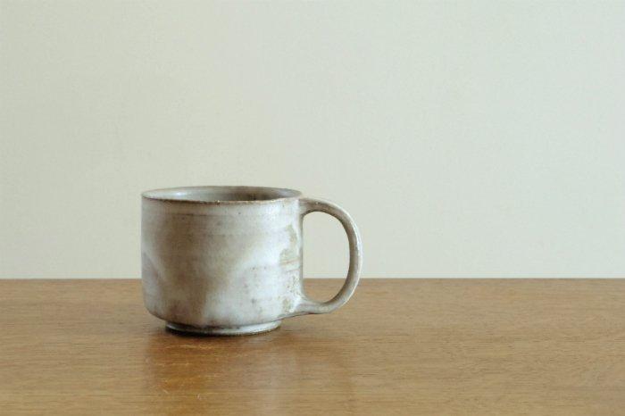 マグカップ/グレー たくまポタリー